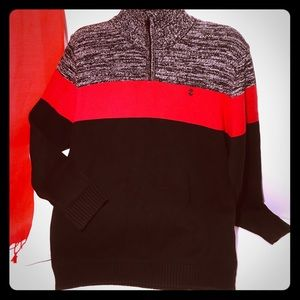 IZOD Boys color block sweater - XL